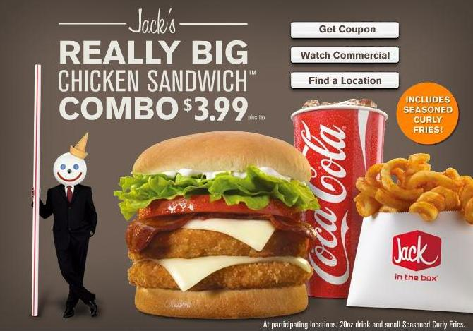 Its Been Around A Few Weeks Now But The Jack In Box Really Big Chicken Sandwich Has Surprisingly New Favorite Of Mine Thing About It Is