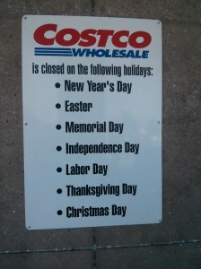 Costco will be among many retailers refusing to open on Thanksgiving Day.