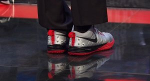 Cris Carter wearing sneakers on TV. C'Mon Man!