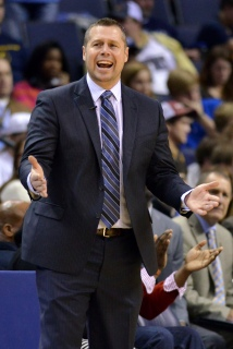 Memphis Grizzlies head coach David Joerger reacts from the sideline in the first half of an NBA basketball game Friday, Dec. 12, 2014, in Memphis, Tenn. (AP Photo/Brandon Dill)