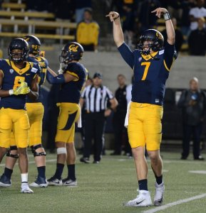 Davis Webb and the Golden Bears had plenty to celebrate about late into the night after beating the 11th ranked Texas Longhorns at home.