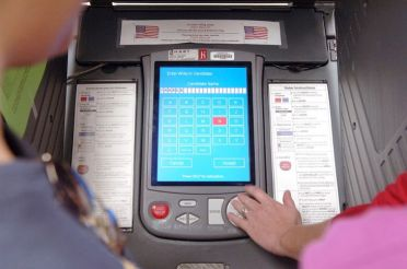 USA - Midterm Elections - Texas - Electronic Voting Demonstration